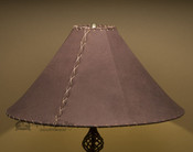 "Western Leather Lamp Shade - 22"" Brown Pig Skin"
