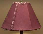 "Western Leather Lamp Shade - 12"" Burgundy Pig Skin"