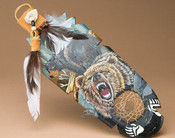 Painted Cedar Kiowa Feather - Medicine Spirit