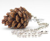Rustic Painted Resin Chainpull- Pine Cone