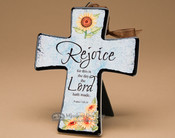 "Inspirational Cross 6"" -Rejoice Psalm 118:24"