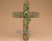 "Southwestern Wire Garden Cross 12.5"" (c46)"