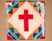 Southwestern Handcrafted Saltillo Tile Cross (63)