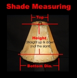 "Custom Size Rawhide Lampshades - 24"" bottom dia."