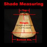 "Custom Rawhide Lamp Shades - 8"" bottom dia"