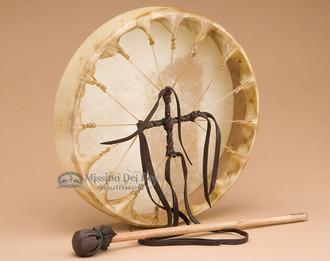 Cherokee Hand Laced Deer Drum