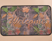 Camouflage welcome door mat.