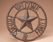 Iron Art Welcome Sign
