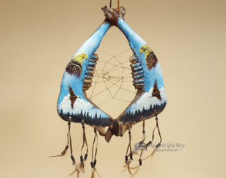 Tarahumara Jaw Bone Dreamcatcher - Eagles