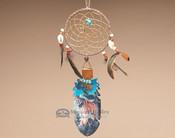 Kiowa Cedar Feather and Dreamcatcher Wall Art