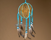 Native American Dream Catcher - 3D Turquoise