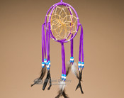 3D Native American Dreamcatcher - Purple