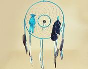 "12"" Medicine Wheel Dream Catcher -Turquoise"