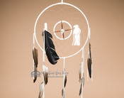 "12"" Navajo Dreamcatcher/Medicine Wheel - White"