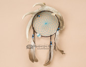 Genuine Antler with Colored Web Dreamcatcher - Turquoise