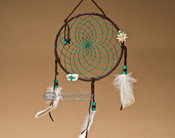 "6"" Native American Dreamcatcher - Green"