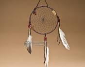 "6"" Native American Dreamcatcher - Black"