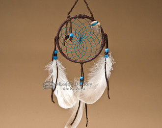 Native American colored web dreamcatcher  4""