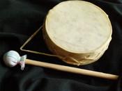 4 inch rawhide Tarahumara drum