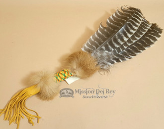 Cherokee Indian Smudging Fan - White