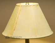 "Western Leather Lamp Shade - 12"" Gold Pig Skin"