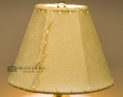 "Western Leather Lamp Shade - 8"" Gold Pig Skin"