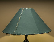 "Western Leather Lamp Shade - 20"" Green Pig Skin"