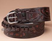 "44-45 Cal. Hand Tooled Western Leather Gun Belt 38"" (gb17)"