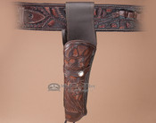 "Tooled Western Gun Holster 10"" -Left Handed (h3)"