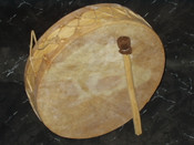 Genuine Rawhide Tarahumara Drum 7""