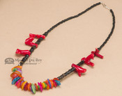 Native American Indian Beaded Necklace 19""