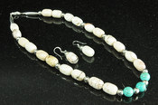 Apache Indian Jewelry -Necklace & Earring Set 18""
