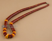 Native American Beaded Necklace 19.5""