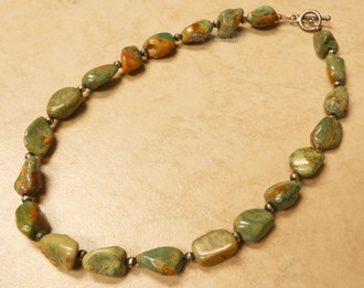 """Native American Navajo Turquoise Necklace 17"""""""