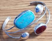 Native American Silver Cuff Bracelet -Navajo