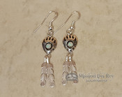 Native American Navajo Silver Earrings - Opal
