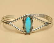 American Indian Sterling Silver Cuff Bracelet -Navajo