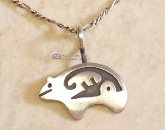 Navajo Bear Fetish Pendant Necklace