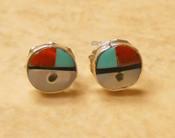 Zuni Native American Silver Earrings