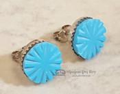 Turquoise & Sterling Earrings -Zuni