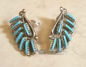 Navajo Turquoise Needle Point Earrings
