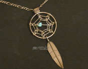 "Navajo Dream Catcher Necklace with 20"" Chain"