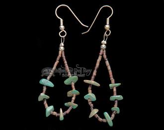 Tigua Pueblo American Indian earrings.