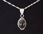 Southwest Style Sterling Silver Pendant -Small Oval