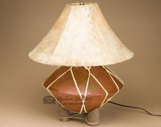 Southwest Tarahumara Pottery Lamp