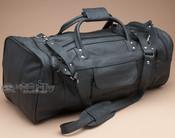 "Rich Genuine Leather Duffle Travel Bag 20"" Black (b14)"