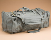 "Luxurious Leather Duffle Bag 22"" -Grey (b454)"