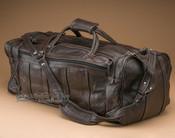 """Large Rustic Leather Duffle Bag 23"""" -Dark Brown (b5)"""