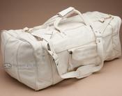 """Genuine Cowhide Duffle Travel Bag 22"""" -Bone (db8)"""