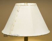 "Western Pig Skin Leather Lamp Shade - 12"" Natural"